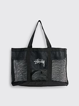 Stüssy Mesh Beach Tote Bag Black