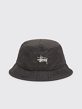 Stüssy Reflective Window Pane Bucket Hat Black