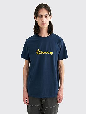 Stüssy Corp Logo T-shirt Navy