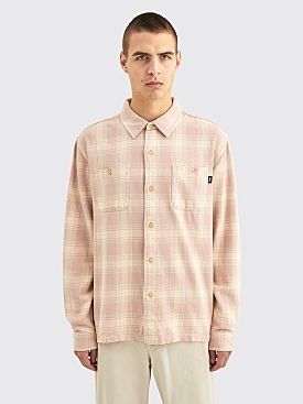 Stüssy Beach Plaid Shirt Dusty Rose