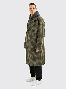 Stüssy Dyed Trench Coat Olive