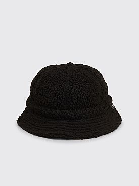 Stüssy Sherpa Fleece Bell Bucket Hat Black