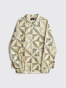 Stüssy Quilt Pattern Shirt Sand