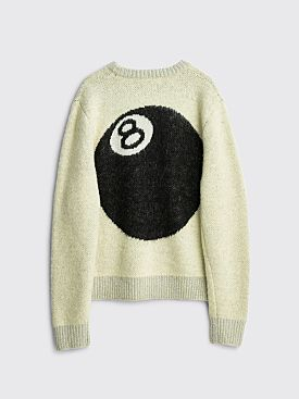 Stüssy 8 Ball Heavy Brushed Mohair Sweater Cream