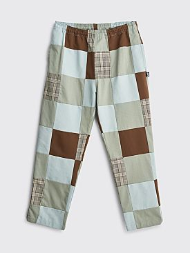Stüssy Patchwork Beach Pant Light Blue / Brown