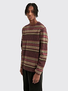 Stüssy Sumatra LS Crew Sweater Maroon