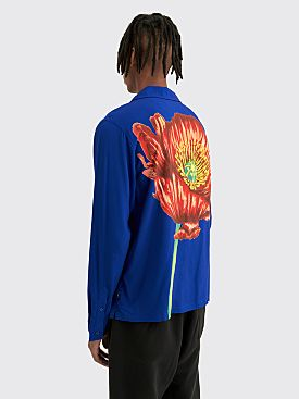 Stüssy Big Poppy LS Shirt Blue