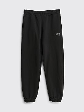 Stüssy Stock Logo Fleece Pants Black