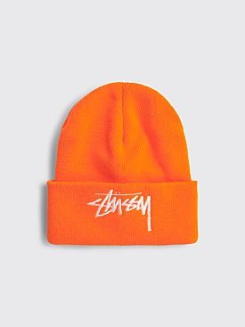 Stüssy Big Stock Cuff Beanie Orange