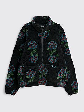 Stüssy Flor Sherpa Mock Neck Black