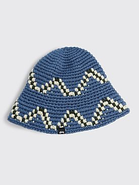 Stüssy Giza Knit Bucket Hat Blue
