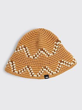 Stüssy Giza Knit Bucket Hat Brown