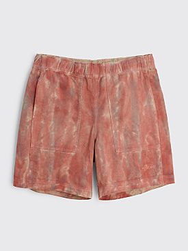 Stüssy Dyed Easy Shorts Rust