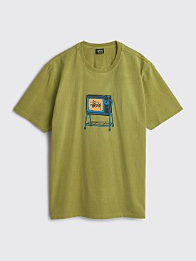 Stüssy Rolling Tv Pigment Dyed Tee Citron