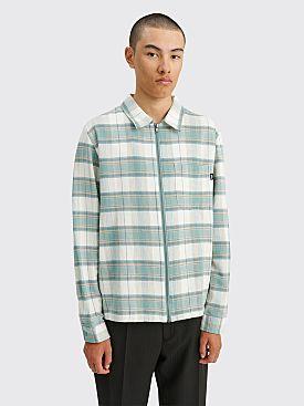 Stüssy Heritage Plaid Zip LS Shirt Green