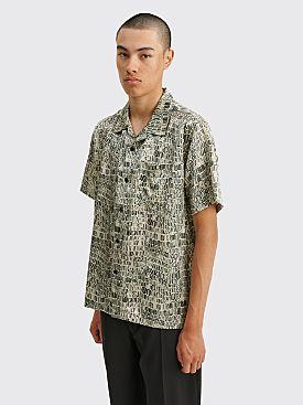 Stüssy Croc Pattern Silk Shirt Tan
