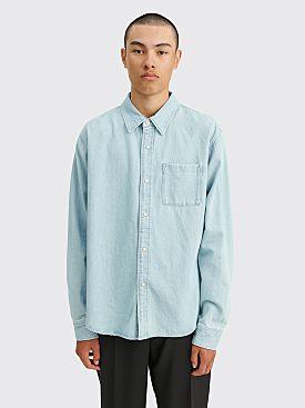 Stüssy Flower Denim LS Shirt Light Blue