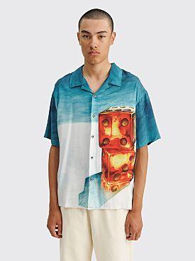 Stüssy Dice Painting Shirt Blue