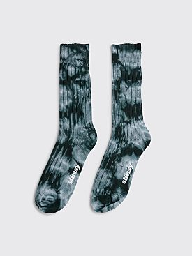 Stüssy Dyed Ribbed Crew Socks Grey