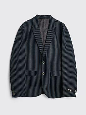 Stüssy Stripe Seersucker Sport Coat Blue
