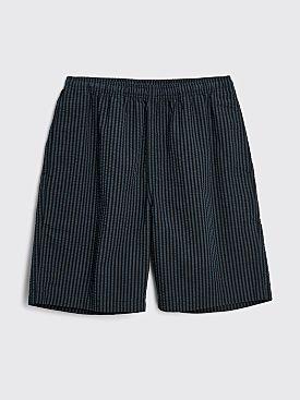 Stüssy Stripe Seersucker Relaxed Shorts Blue