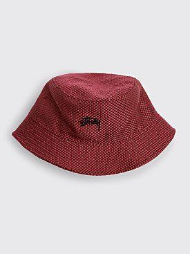 Stüssy Jute Weave Bucket Hat Red