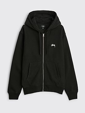 Stüssy Stock Logo Zip Hood Black
