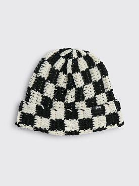 Stüssy Crochet Checker Beanie Black