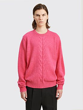 Stüssy Double Cable Sweater Pink