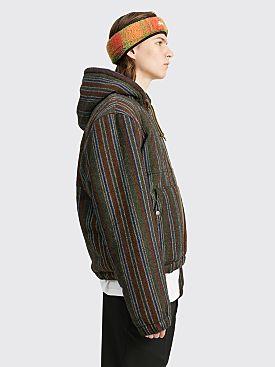 Stüssy Wool Stripe Work Jacket Olive