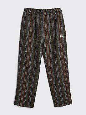 Stüssy Wool Stripe Relaxed Pants Olive