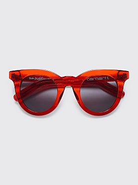 Sun Buddies for Carhartt WIP Juliette Sunglasses Transparent Red