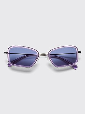 Sun Buddies River Sunglasses Silver / Purple Rain