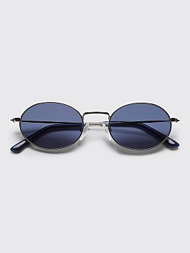 Sun Buddies Aaliyah Sunglasses Silver / Dark Blue