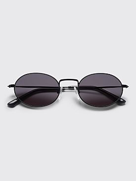 Sun Buddies Aaliyah Sunglasses Black / Transparent Grey