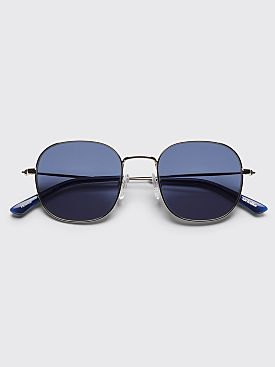 Sun Buddies Helmut Sunglasses Silver / Dark Blue