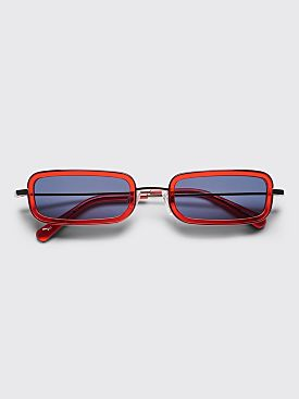 Sun Buddies Jet Sunglasses Silver / Ferrari Red