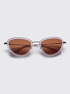 Sun Buddies Left Eye Sunglasses Silver / Milky Lavender