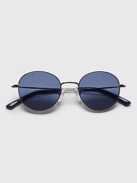 Sun Buddies Ozzy Sunglasses Silver / Dark Blue