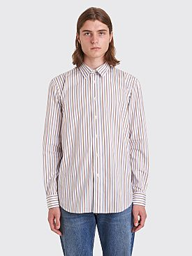 Sunflower Classic Shirt Stripe White / Brown