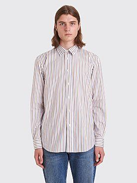 Sunflower Classic Shirt Stripe White / Brown