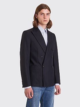 Sunflower Double Wool Blazer Dark Navy