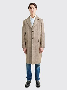 Sunflower Clean Herringbone Linen Coat Khaki