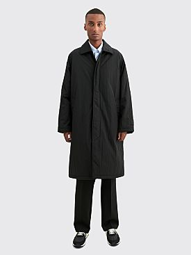 Sunflower Relaxed Nylon Coat Black