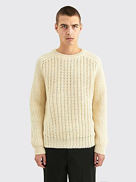 Sunflower Como Merino Wool Sweater White