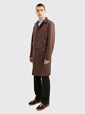 Sunflower Winter Coat Leather Brown