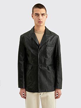 Sunflower Leather Blazer Black