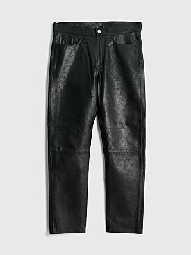 Sunflower Straight Leather Trousers Black