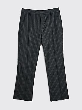 Sunflower Mac Wool Trousers Stripe Anthracite