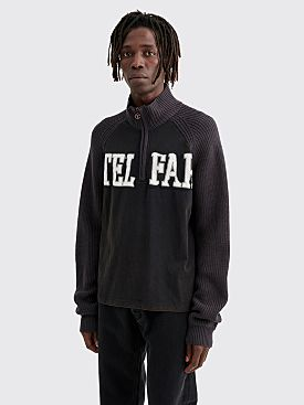 Telfar Half Zip Raglan Sweater Off Black